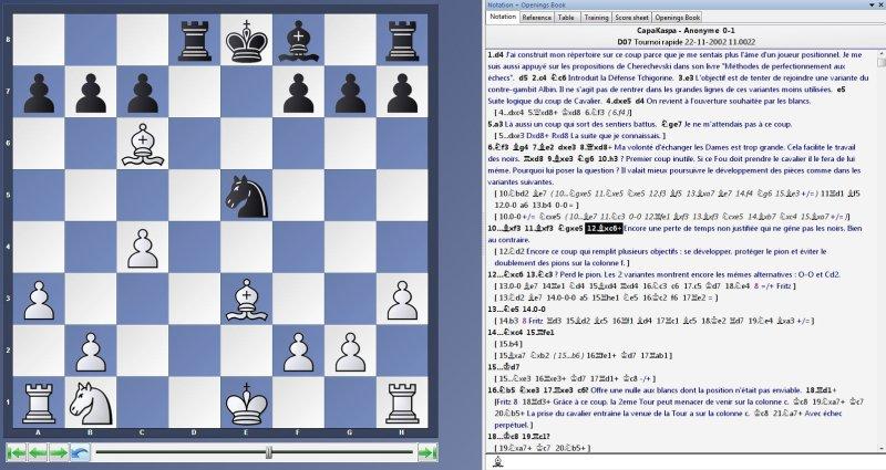 Partie d'échecs commentée : Mes plus belles défaites - 01