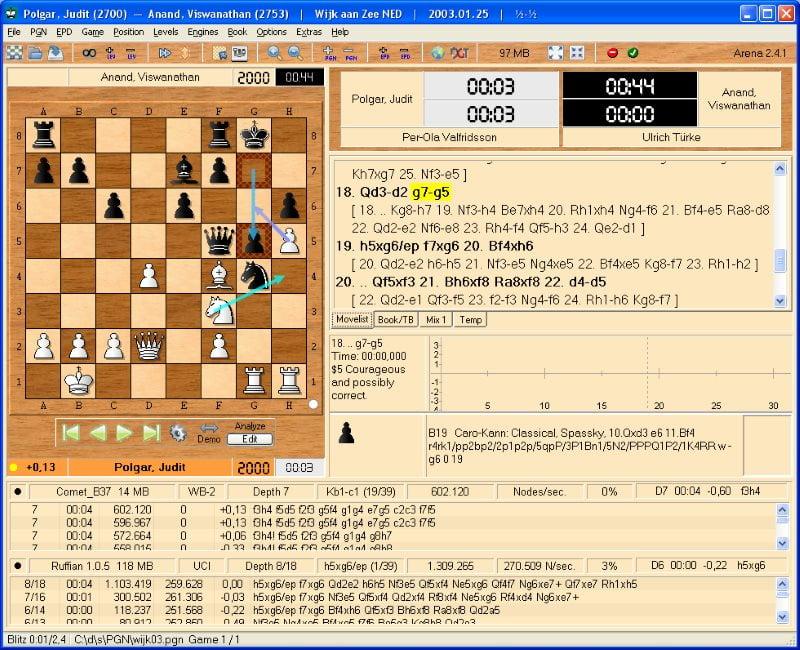 Arena logiciel d'échecs gratuit