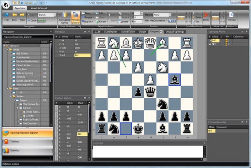 Chess Position Trainer logiciel d'échecs gratuit