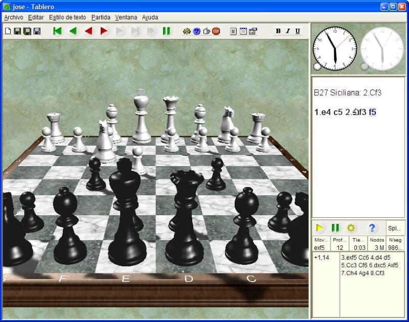 Jose chess logiciel d'échecs gratuit