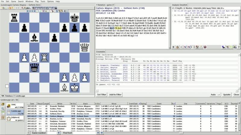 SCID logiciel d'échecs gratuit