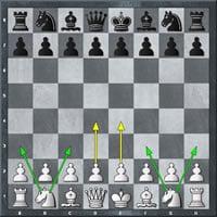 Position initiale d'une partie d'échecs