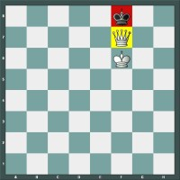 Position de Mat avec la Dame dans une partie d'échecs