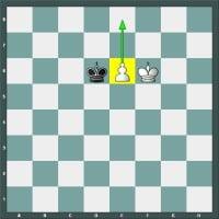 Position de promotion du pion dans une partie d'échecs