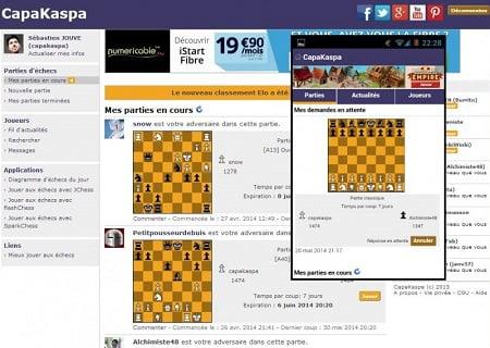 Jouer aux échecs sur votre mobile