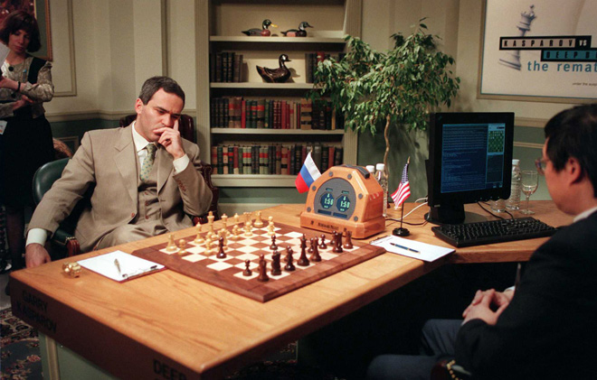 Garry Kasparov joue contre Deep Blue