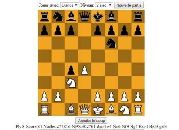 Jouer aux échecs contre GarboChess (jeu en JavaScript)