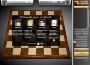 Jouer aux échecs contre Sparkchess (Jeu Flash)