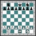 Position initiale partie d'échecs simplifiée