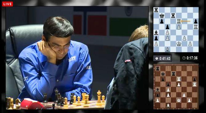Anand est perdu dans la 6eme partie