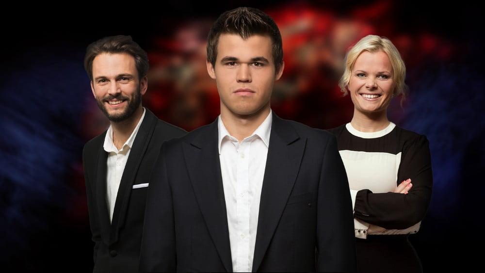 Magnus Carlsen à télévision norvégienne NRK1