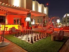 Bel endroit pour jouer aux échecs