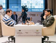 Shamkir Chess 2015 Ronde 8 - Anand revient