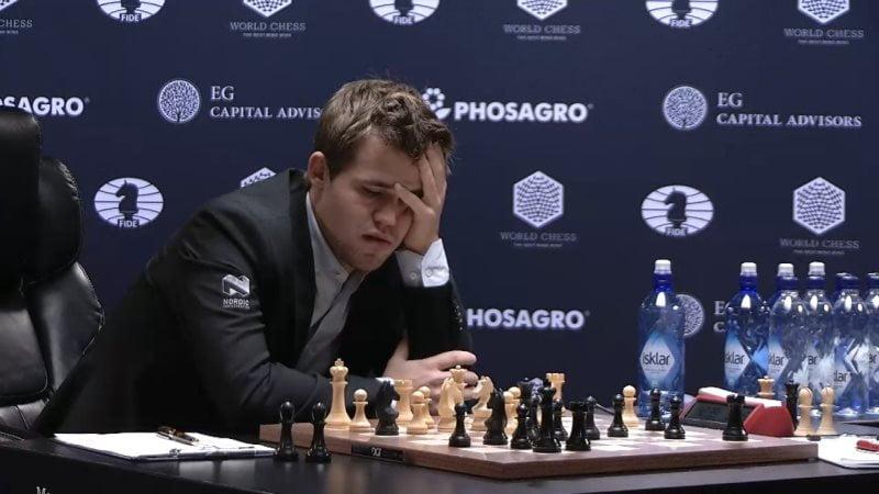 Carlsen Karjakin 2016 partie 10 coup 20