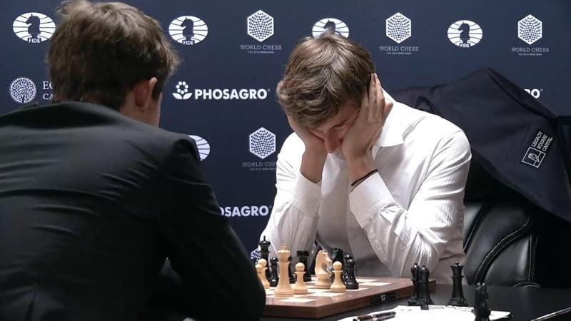 Carlsen Karjakin 2016 partie 10 coup 31