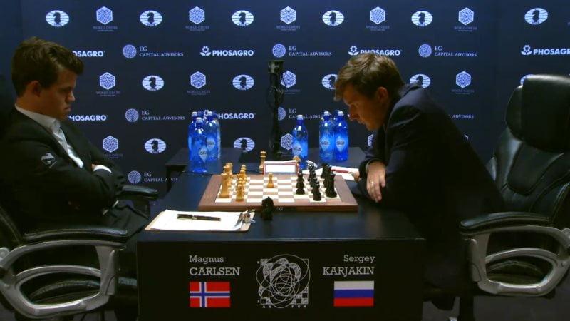 Carlsen karjakin 2016 partie 3 coup 11