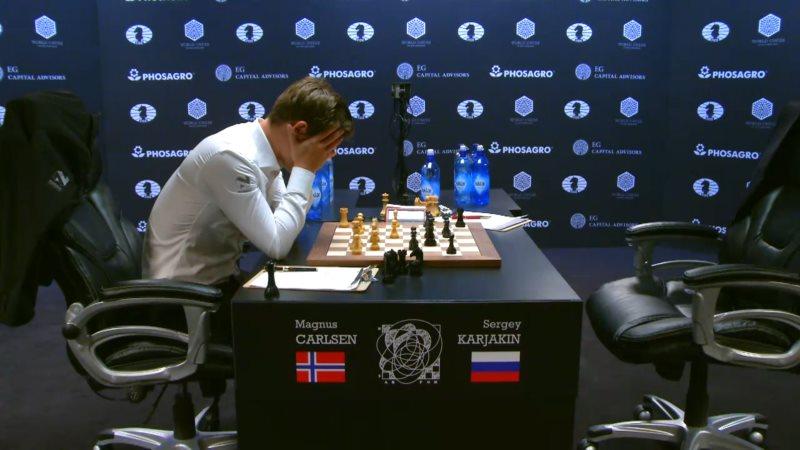Carlsen Karjakin 2016 partie 3 coup 23