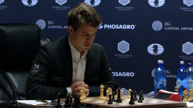 Carlsen Karjakin 2016 partie 3 coup 32