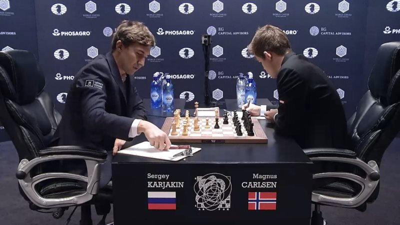 Carlsen Karjakin 2016 partie 4 ouverture
