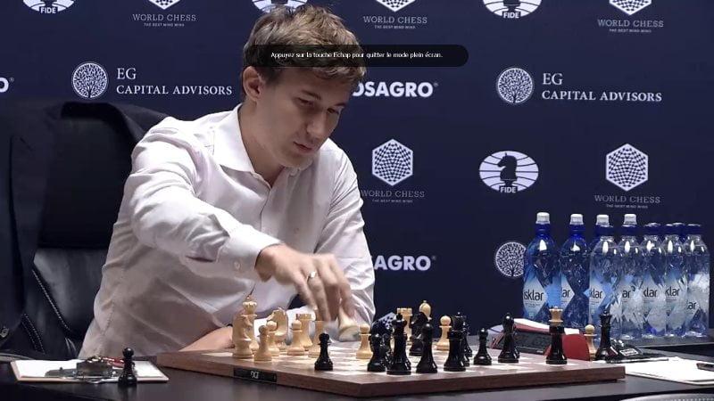 Carlsen Karjakin 2016 partie 4 coup 18
