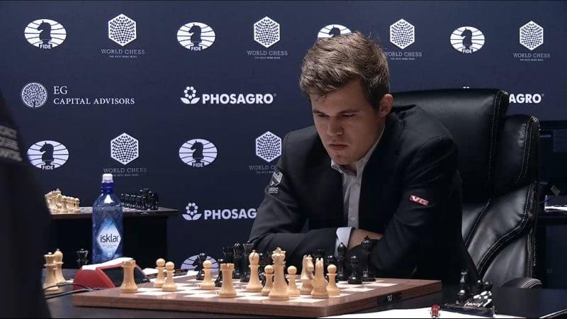 Carlsen Karjakin 2016 partie 4 coup 21
