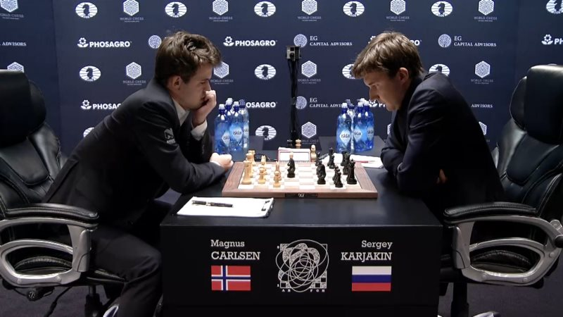 Carlsen Karjakin 2016 partie 5 coup 13