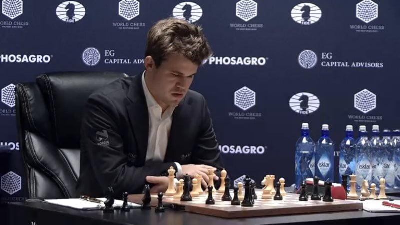 Carlsen Karjakin 2016 partie 5 coup 20