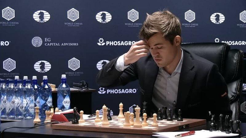 Carlsen Karjakin 2016 partie 7 coup 19