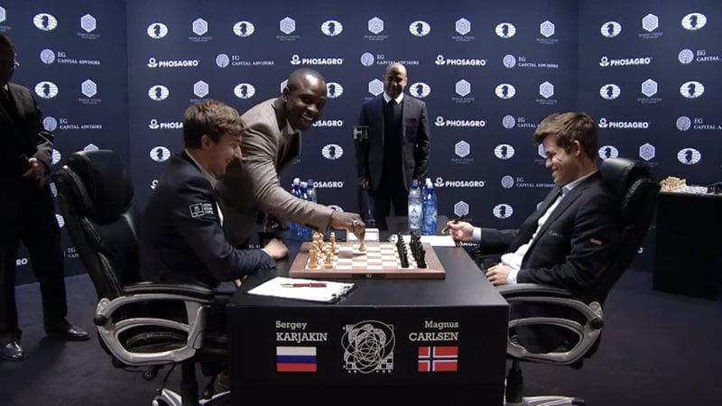 Carlsen Karjakin 2016 partie 7 premier coup