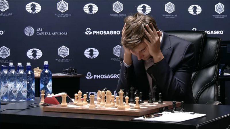 Carlsen Karjakin 2016 partie 8 coup 15