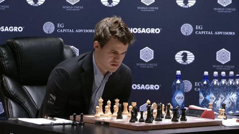 Carlsen Karjakin 2016 partie 8 coup 20