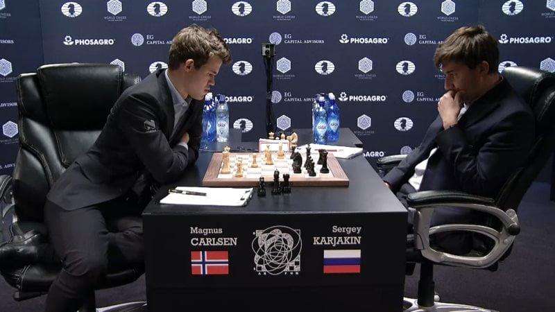 Carlsen Karjakin 2016 partie 8 coup 25