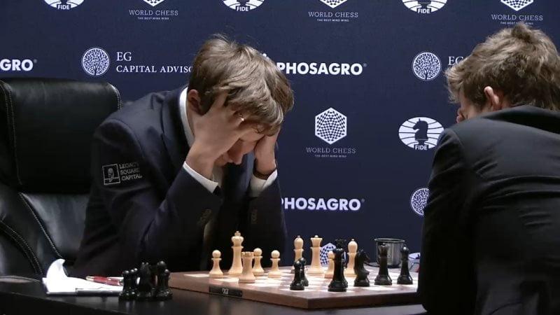 Carlsen Karjakin 2016 partie 9 coup 39