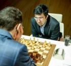 Shamkir Chess 2015 Ronde 6 - Caruana terrasse Kramnik