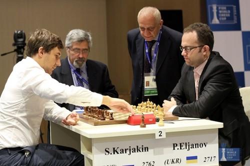 Karjakin rejoint Svidler en finale de Coupe du Monde FIDE