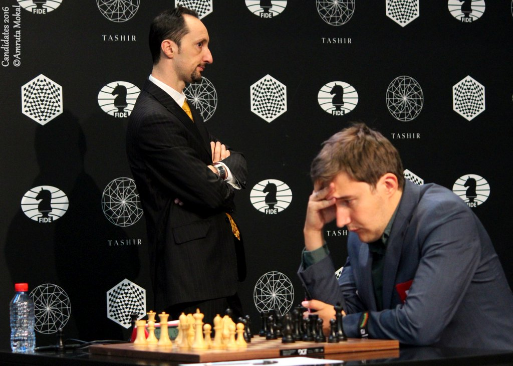 Tournoi des Candidats 2016 Ronde 5 Karjakin Topalov