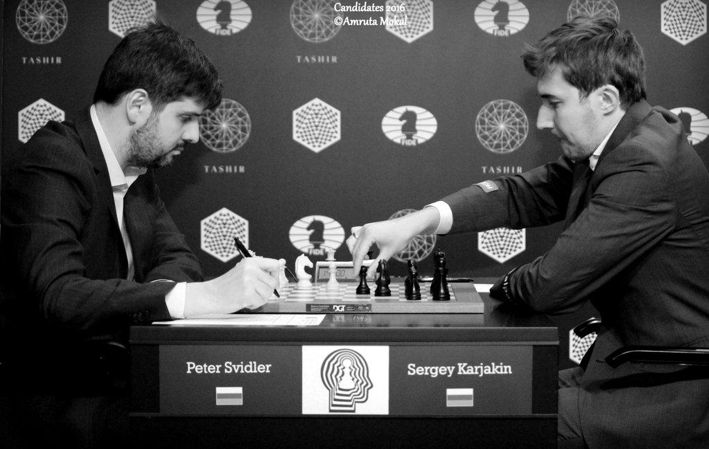 Tournoi des Candidats 2016 Ronde 8 Svidler Karjakin