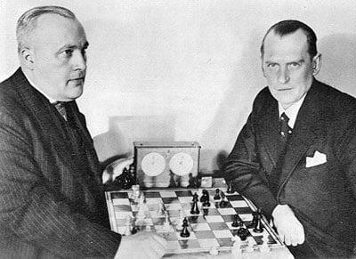 Alexandre Alekhine avec Efim Bogoljubov