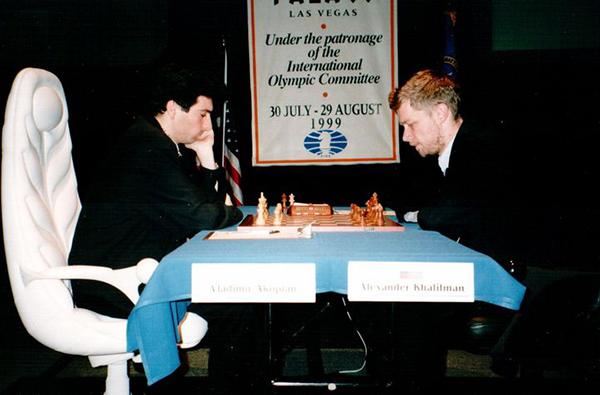 Alexandre Khalifman contre Vladimir Akopian finale du Championnat du Monde à Las Vegas en 1999