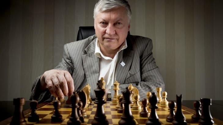 Anatoly Karpov Champion du Monde d'échecs