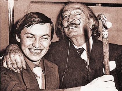 Anatoly Karpov avec Salvador Dali