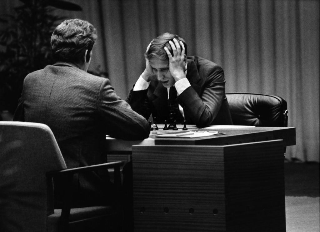 Bobby Fischer face à Boris Spassky