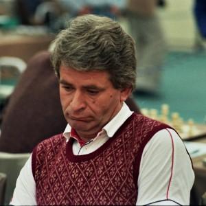Boris Spassky à l'olympiade de Thessalonique en 1984
