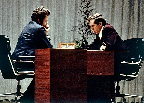 Boris Spassky contre Bobby Fischer en 1972 à Reykjavik