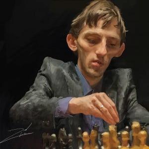 Caricature échecs Alexander Grischuk