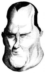 Caricature échecs Alexandre Alekhine