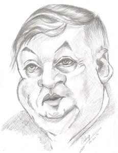 Caricature échecs Anatoly Karpov