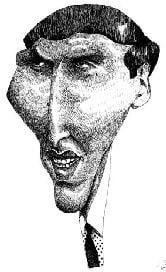 Caricature échecs Bobby Fischer