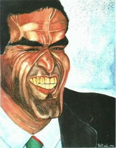 Caricature échecs Garry Kasparov sourire