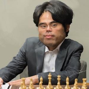 Caricature échecs Hikaru Nakamura